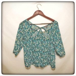 🌵Lily Rose Women's Large Blouse Flowers